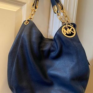 Michael Kors Navy Hobo